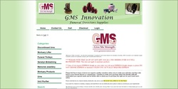 GMS Innovation - a funeral director supplier - shop only, You Tube video included on Information page, Paypal.